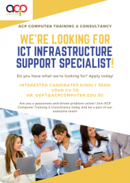 We are Hiring! ICT infrastructure support specialist!